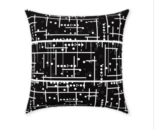 black decorative throw pillow