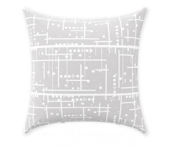 Gray Decorative Throw Pillow Living Room