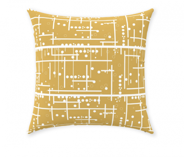 Mustard Yellow Decorative Throw Pillow Living Room