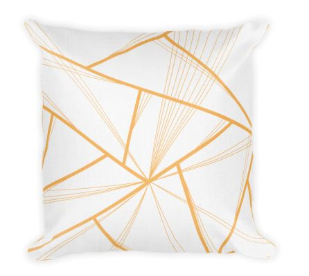 orange decorative throw pillow