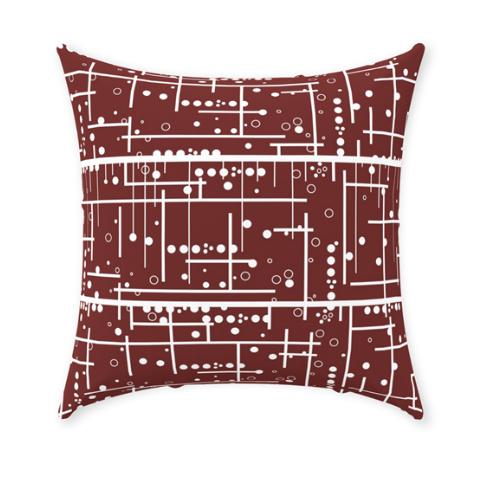 Burgundy Red Decorative Throw Pillow